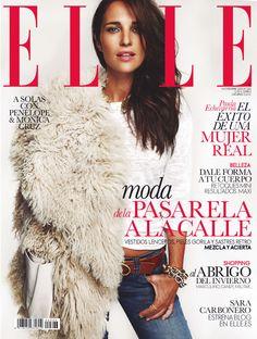 Elle España noviembre 2013, con la actriz y bloguera de lujo, Paula Echevarría.