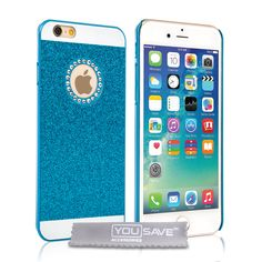 Yousave Accessories iPhone 6 and 6s Flash Diamond Case - Blue | Mobile Madhouse