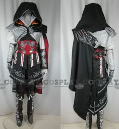 Ezio Costume (Black) from Assassins Creed - Tailor-Made Cosplay Costume