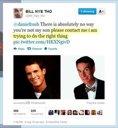 Bill Nye trying to do the right thing… #BillNye
