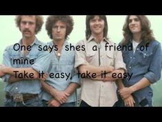Take it easy-Eagles with lyrics, I think the Eagles have the respect of the classic rock genre but I consider them more soft rock.  I just couldn't put them in the easy listening catagory though, they're too good for that.