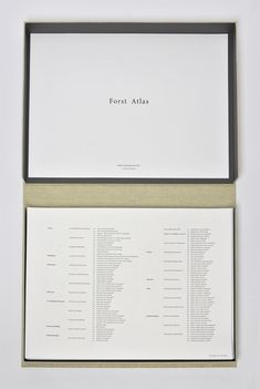 "Forst Atlas, Studio Tom Emerson  ––––––  ETH Zürich  Studio Tom Emerson  Forst Atlas  –  ""According to one of the pioneers of conceptual art, Seth Siegelaub, only textiles go further than art in holding and revealing the meaning of the hu..."