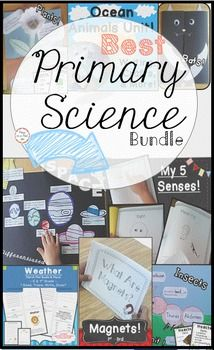 Primary Science Bundle! Solar System, Insects, Plants, Bats, March Weather, Magnets, Ocean, and 5 Senses. Perfect for K-2! $