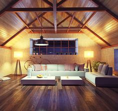 beautiful modern interior loft in the evening concept design buy this illustration on shutterstock find other images