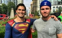 Tyler Hoechlin and Stephen Amell