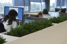 fantastic desk dividers (via Vergaderen en flexwerken op de Vakbeurs Facilitair 2013 in Den Bosch l Hoveniersbedrijf Koninklijke Ginkel Groe...