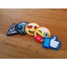 YOUR CHOICE Custom Hama Perler Bead Emoji Emoticon Face Keyc ...
