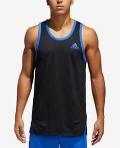 adidas Men's Mesh Tank Top - Black 2XL | Sport tank tops, Mesh ...