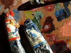 Reeves and Son oil paint tubes