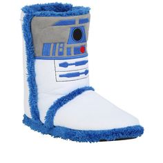 Star Wars R2-D2 Slipper Boots Hot Topic ($21) ❤ liked on Polyvore featuring shoes, slippers and star wars