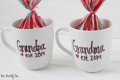 pregnancy announcement mugs