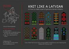 Latvian  MITTEN PATTERN- cool color combos