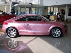 Audi... factory pink metallic... sweet... European market only... yet another reason to move to Italy.