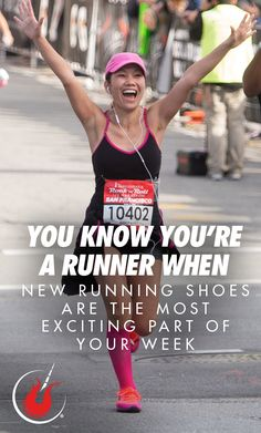 You know you're a runner when new running shoes are the most exciting part of your week. Running Gear, Running Shoes, The Rock, Rock N Roll, Marathon, Sayings, Runing Shoes, Rock Roll, Lyrics