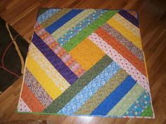her scrappy I had to try Scrappy Quilt Patterns, Beginner Quilt Patterns, Batik Quilts, Quilting For Beginners, Strip Quilts, Panel Quilts, Patch Quilt, Quilting Projects, Quilting Designs