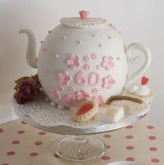 Vintage and Cake: How to make a teapot cake