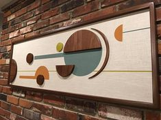 Mid Century Modern Witco Abstract Wall Art Sculpture Painting Retro Eames Era Atomic - The Elliot
