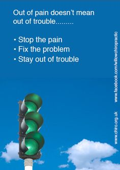 Chiropractic Traffic Lights To Long Term Pain Management