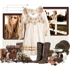 Country Girl, dress and boots