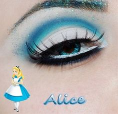alice in wonderland makeup - Click image to find more makeup posts