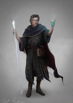 m Wizard Robes Staff Magic Book casting Human Lloyd DnD d&d lg Dungeons And Dragons Characters, Dnd Characters, Fantasy Characters, Dnd Wizard, Fantasy Wizard, Medieval Fantasy, Dark Fantasy, Fantasy Male, Fantasy Character Design