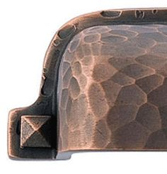 Emtek Arts & Crafts 3 Inch Solid Brass Hammered Bin Pull (Venetian Rubbed Bronze Finish)