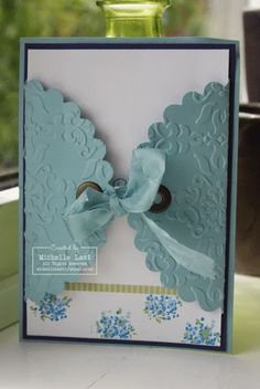 so cute. I haven't pulled out my eyelets in forever! card by Michelle Last
