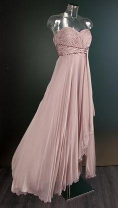 Oud-roze galajurk met knoopdetail 0275