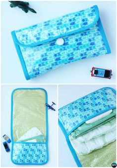 DIY Baby Changing Pad Diaper Clutch Bag Sew Pattern Picture Instructions