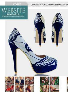 African print shoe