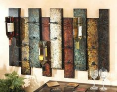 Nice! Wall art wine rack.