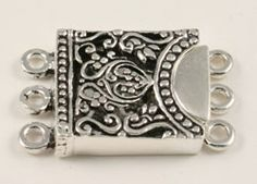 Sterling Silver Box Clasps: In the Mood. . . .Sterling Triple Clasp