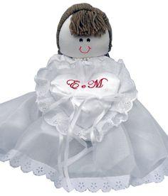 boneca porta aliança bordada