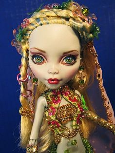 OOAK monster high dolls | Lagoona OOAK Genie Monster High Doll