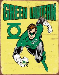 Green Lantern Retro Tin Sign from AllPosters.com