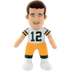 NFL Green Bay Packers Aaron Rodgers 10 inch Plush Figure, Multicolor
