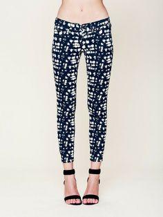 Free People Skinny Jeans in Grid print