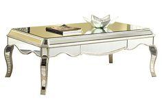 "Briony Coffee Table, Silver on OneKingsLane.com   52""w x 28""d x 19""h   1,400.00 retail"