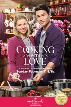 Cooking With Love - Alie Liebert (A Gift to Remember) and  Brett Dalton whip up a recipe for romance on February 11 at 9/8c on Hallmark Channel! #CookingWithLove #CountdownToValentinesDay #HallmarkChannel