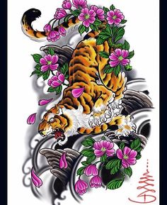 Tattoo Japanese Style, Japanese Tiger Tattoo, Japanese Tattoo Designs, Tattoo Sketch, Tiger Tattoo Design, Ink Instagram, Oriental, Japan Tattoo, Tiger Tattoo