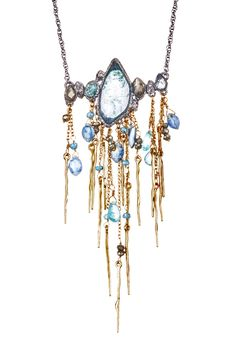 Elements Indian Blue Sapphire Crystal Fringe Pendant Necklace by Alexis Bittar on @HauteLook