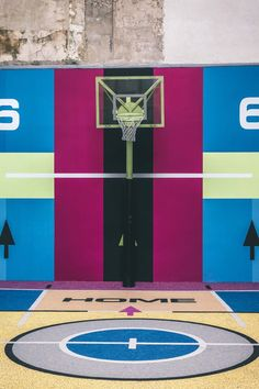 Pigalle and Nike Debut Vibrant New Parisian Basketball Court: A colorful makeover. Basketball Shooting, Basketball Goals, Basketball Court, Pigalle Basketball, Backyard Basketball, Small Forward, Basketball Equipment, Sport Park, Crimean War