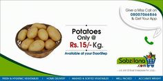 Todays Deal ‪#‎Potatoes‬ @ Rs.15/- KG Only ‪#‎Homedelivery‬ ‪#‎Nagpur‬ ‪#‎Vegetables‬ #Sabzilana.com