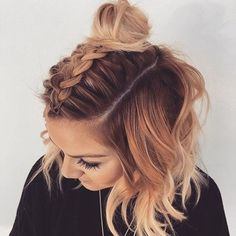 Fresh and Chic Braids For Short Hair 19 - Short hair - Cheveux Short Braids, Very Short Hair, Braids For Short Hair, Short Curled Hair, Curling Short Hair, Braids For Medium Length Hair, Wavy Hair, French Braid Hairstyles, Box Braids Hairstyles