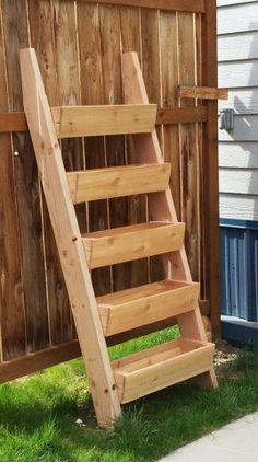 Cedar Vertical Tiered Ladder Garden Planter. dad and i need to build this this summer