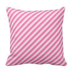 #pink - #Pink Diagnal Stripe Pillow