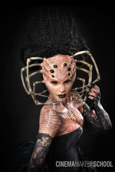 cool, but nope nope nope - Spider lady costume party makeup scary spooky autumn halloween costumes Halloween Makeup, Halloween Costumes, Women Halloween, Cosplay Makeup, Costume Makeup, Joker Cosplay, Armadura Cosplay, Horror, Monsters