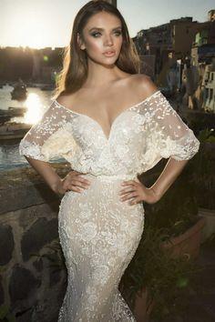 Bell Sleeve Wedding Dress by Julie Vino Napoli Bridal Collection | ElegantWedding.ca