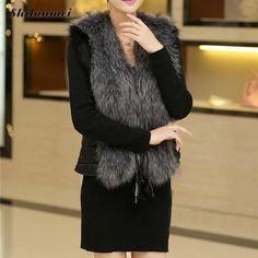 >> Click to Buy << New 2017 Winter Coat Women Fur Vest With a Pocket High-Grade Faux Fur Coat Leisure Women Fake Fox Fur Long Vest Plus Size:S-XXXL #Affiliate