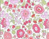 D'Anjo en tissu rose Liberty Tana Lawn 6 x 26